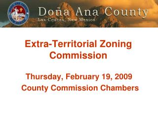 Extra-Territorial Zoning Commission