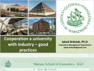 Cooperation a university with industry – good practices