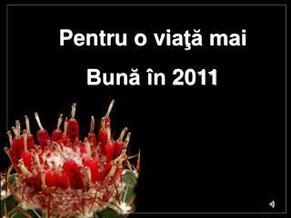 Pentru o vi aţă mai Bună în  2011