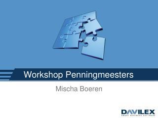Workshop Penningmeesters