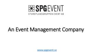 An Event Management Company in Sweden