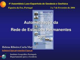 Automatização da Rede de Estações Permanentes  GPS