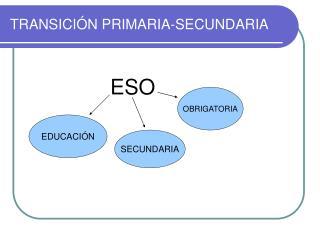 TRANSICIÓN PRIMARIA-SECUNDARIA