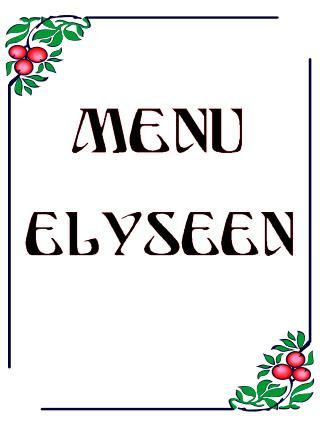 MENU DE L'ANNÉE 2007 Restaurant