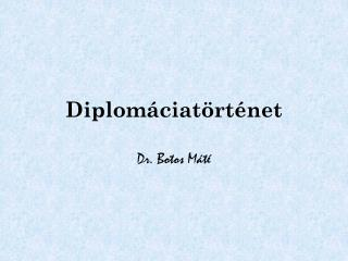 Diplomáciatörténet
