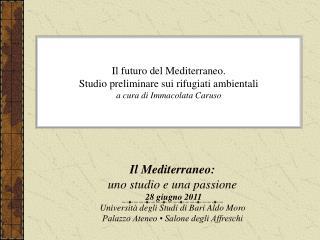 Il Mediterraneo: uno studio e una passione  28 giugno 2011