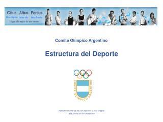 Estructura del Deporte