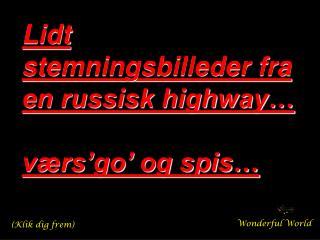 Lidt stemningsbilleder fra en russisk highway… værs'go' og spis…