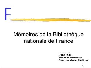 Mémoires de la Bibliothèque nationale de France