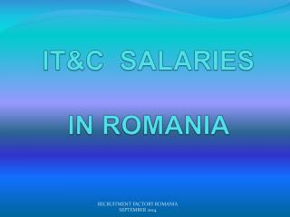 ICT RECRUITMENT ROMANIA ICT SALARY SURVEY ROMANIA
