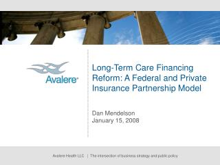 Long-Term Care Financing Reform: A Federal and Private Insurance Partnership Model