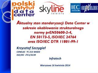 Krzysztof Szczygieł CENELEC  TC 215 WG03 ISO/IEC  JTC1/SC39 Infratech Warszawa 16 kwietnia 2014