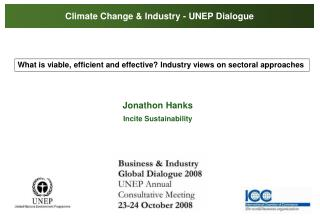 Climate Change & Industry - UNEP Dialogue