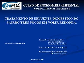 CURSO DE ENGENHARIA AMBIENTAL
