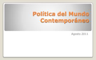 Política del Mundo Contemporáneo