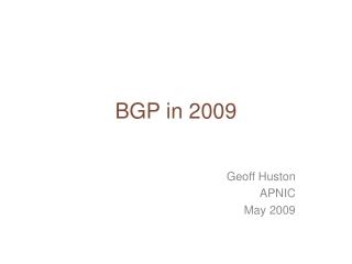 BGP Deployment  Scalability