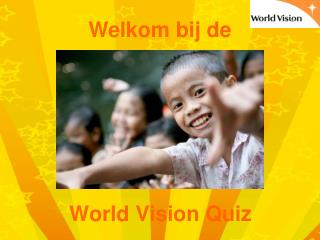 World Vision Quiz