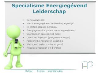 Specialisme Energiegévend Leiderschap