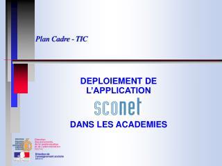 Plan Cadre - TIC