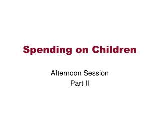 Spending on Children