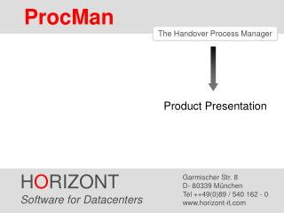 The Handover Process Manager