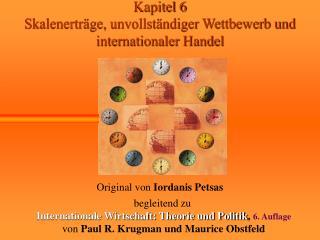 Kapitel 6 Skalenerträge, unvollständiger Wettbewerb und internationaler Handel