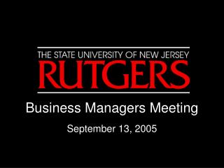 Business Managers Meeting