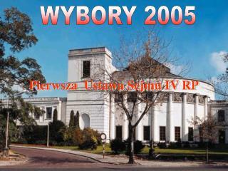 Pierwsza  Ustawa Sejmu IV RP