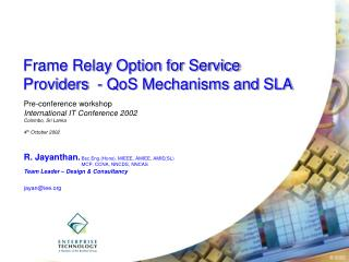 Frame Relay Option for Service  Providers  - QoS Mechanisms and SLA