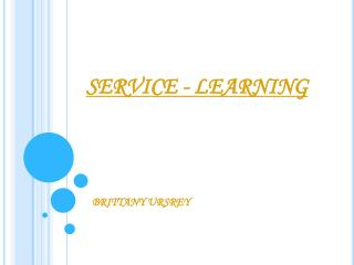 SERVICE - LEARNING