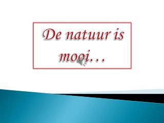 De  natuur is mooi …