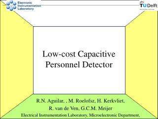 Low-cost Capacitive  Personnel Detector
