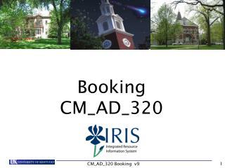 Booking CM_AD_320
