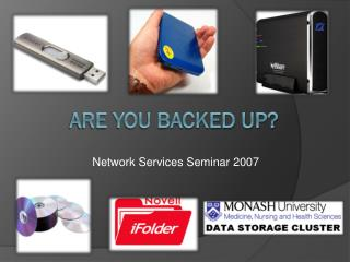 Are you Backed Up?