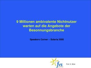 9 Millionen ambivalente Nichtnutzer warten auf die Angebote der Besonnungsbranche