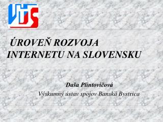 ÚROVEŇ ROZVOJA INTERNETU NA SLOVENSKU