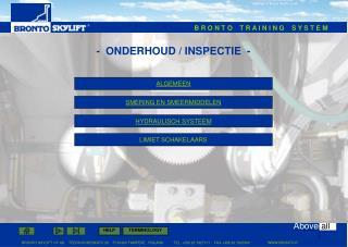 -  ONDERHOUD / INSPECTIE  -