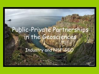 Public-Private Partnerships in the Geosciences