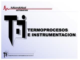 TERMOPROCESOS E INSTRUMENTACION