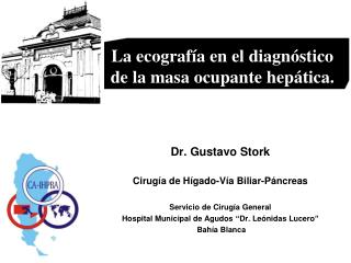 Dr. Gustavo Stork Cirugía de Hígado-Vía Biliar-Páncreas Servicio de Cirugía General