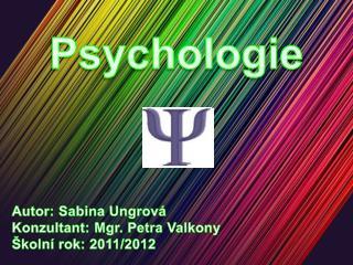 Autor: Sabina  Ungrová Konzultant: Mgr. Petra  Valkony Školní rok: 2011/2012