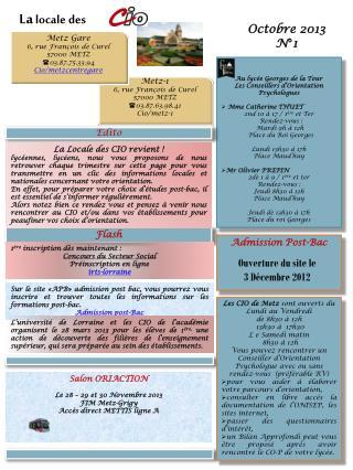 Octobre 2013  N°1