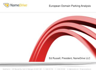 Ed Russell, President, NameDrive LLC