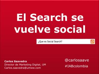 El Search se vuelve social