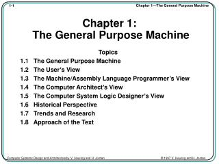 Chapter 1:  The General Purpose Machine