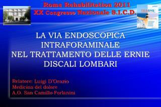 Rome Rehabilitation 2011 XX  Congresso  Nazionale S.I.C.D.