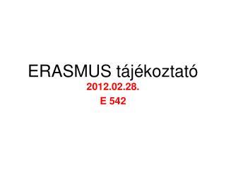ERASMUS t�j�koztat�