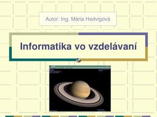 Informatika vo vzdelávaní