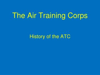 The Air Training Corps