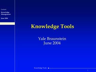 Knowledge Tools